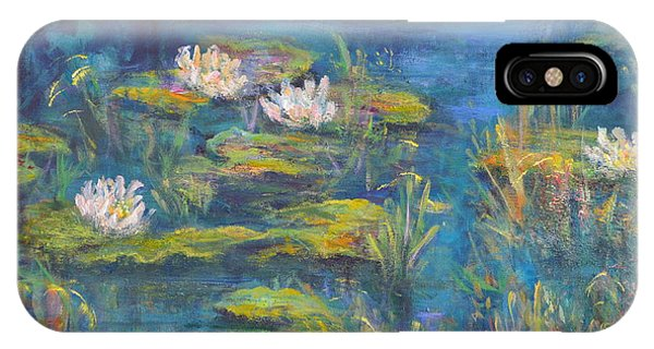 Monet Style Water Lily Marsh Wetland Landscape Painting IPhone Case