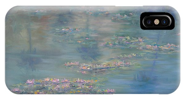 Monet Style Water Lily Peaceful Tropical Garden Painting Print IPhone Case