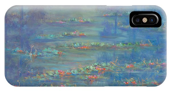 Monet Style Water Lily Pond Landscape Painting IPhone Case