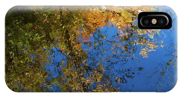 IPhone Case featuring the photograph Monet's Autumn Pool by Lon Dittrick