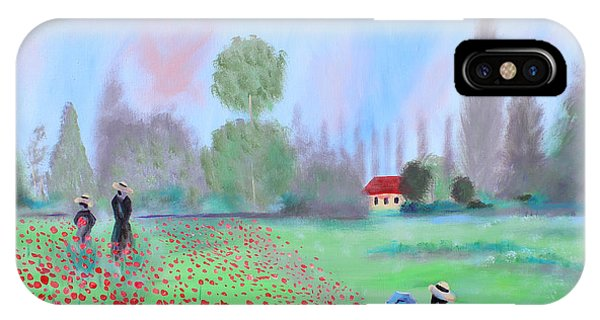 Monet's Field Of Poppies IPhone Case