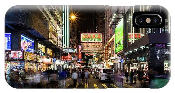 Mong Kok Crosswalk IPhone Case