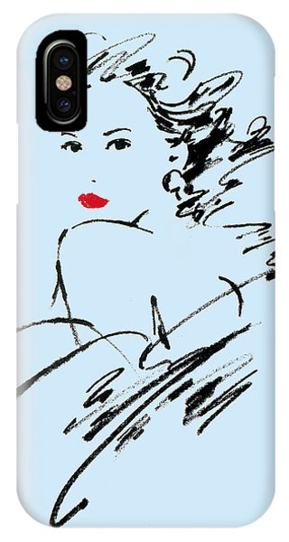 Pastel Pencil iPhone Case - Monique Variant 2 by MGL Meiklejohn Graphics Licensing