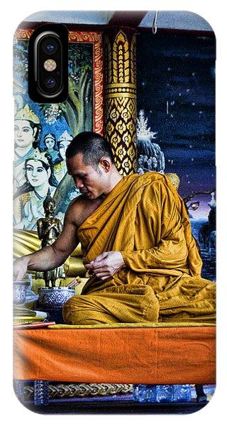 Monk At Big Buddha  IPhone Case