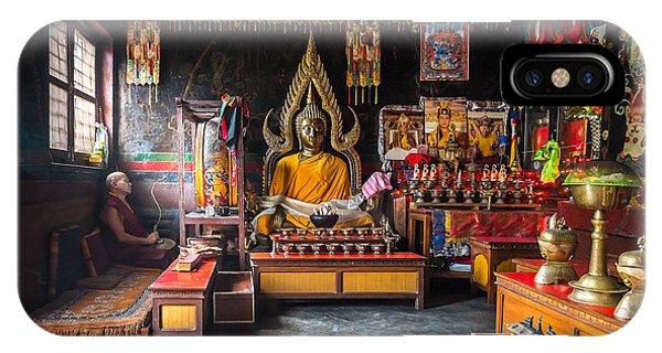 Kathmandu Monk IPhone Case