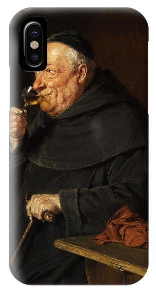 Lust iPhone Case - Monk With A Wine by Eduard von Grutzner