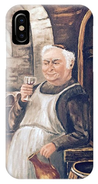 Monk With Wine IPhone Case