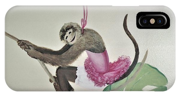 Monkey Swinging In The Trees IPhone Case