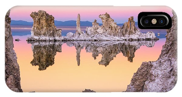 Mono Lake Through A Tufa Frame IPhone Case