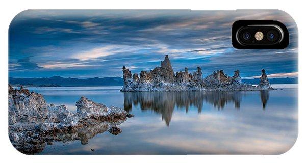 Reflection iPhone Case - Mono Lake Tufas by Ralph Vazquez