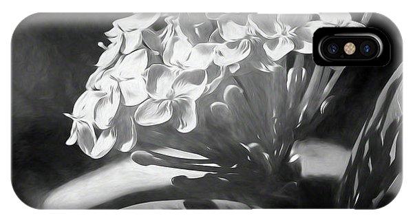 Monochrome Flora IPhone Case