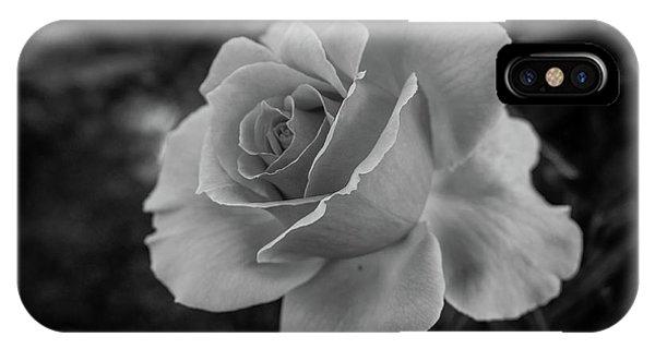 Monochrome Rose Macro IPhone Case