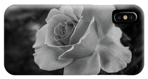 Monochrome Rose Macro IPhone Case