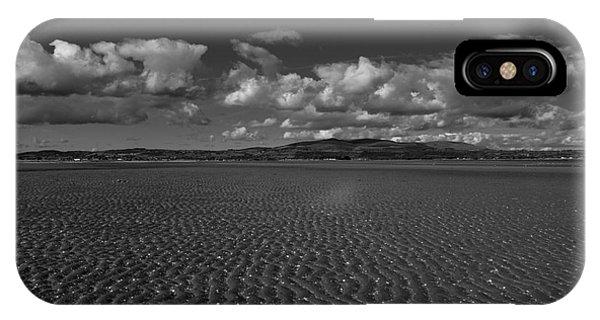 Monochrome Sand Ripples IPhone Case
