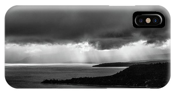 Monochrome Storm Panorama IPhone Case