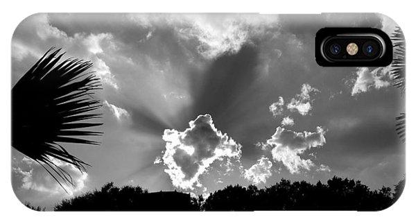 Monochrome Sunburst IPhone Case