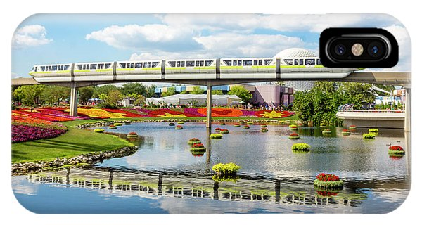 Monorail Cruise Over The Flower Garden. IPhone Case
