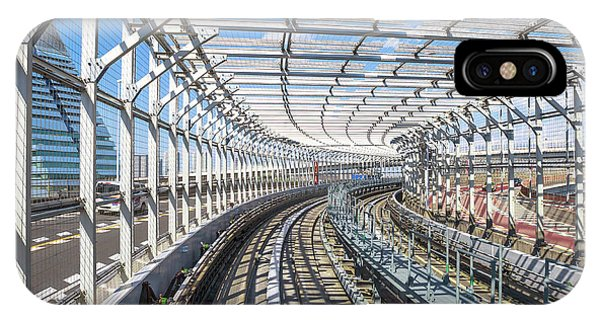 Odaiba iPhone Case - Monorail Tokyo Japan by Benny Marty