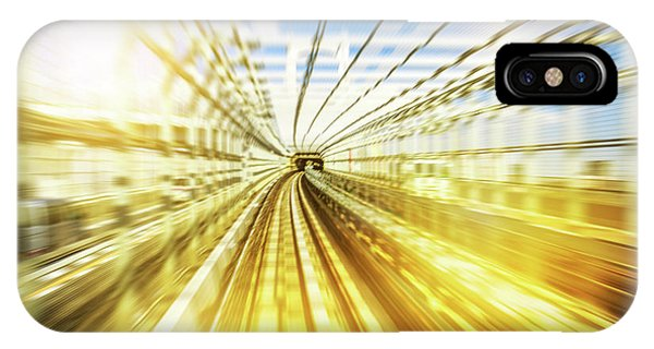 Odaiba iPhone Case - Monorail Tunnel Blurred by Benny Marty