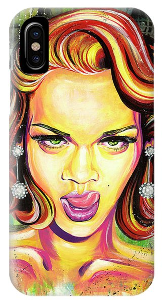 Rihanna iPhone Case - Monroe Gone Bad by Aramis Hamer