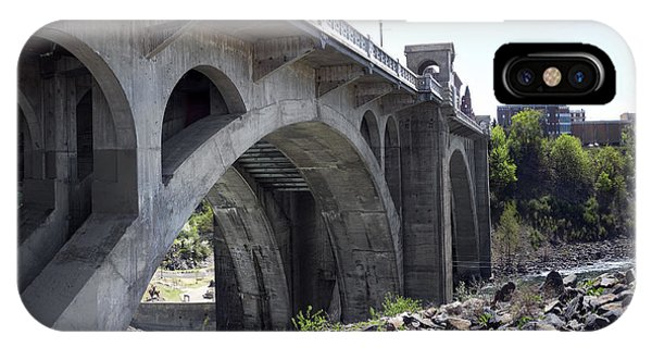 Centennial Bridge iPhone Case - Monroe St Bridge From Centennial Trail by Daniel Hagerman