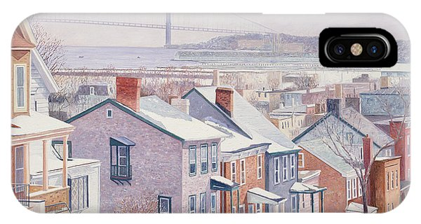 Porch iPhone Case - Monroe St Staten Island by Anthony Butera