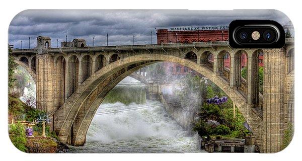 Monroe Street Bridge Spokane IPhone Case