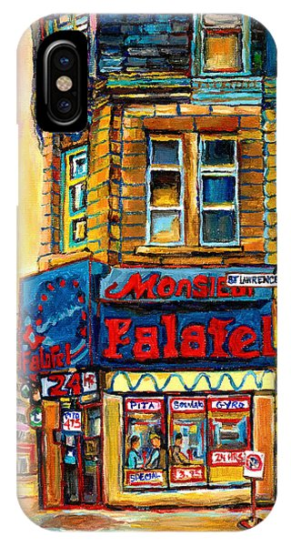 Table For Two iPhone Case - Monsieur Falafel by Carole Spandau