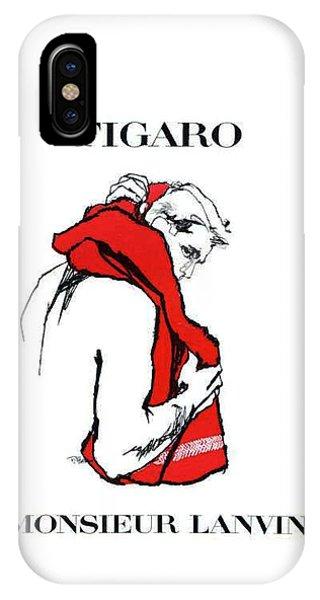 IPhone Case featuring the digital art Monsieur by Kim Kent