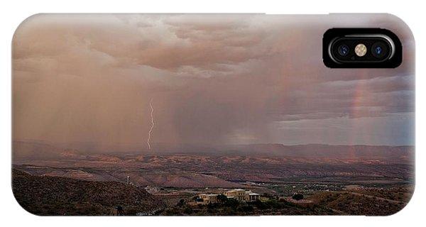 Monsoon Lightning And Rainbow IPhone Case