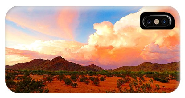 Monsoon Storm Sunset IPhone Case