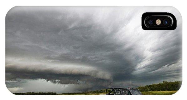 Monster Storm Near Yorkton Sk IPhone Case