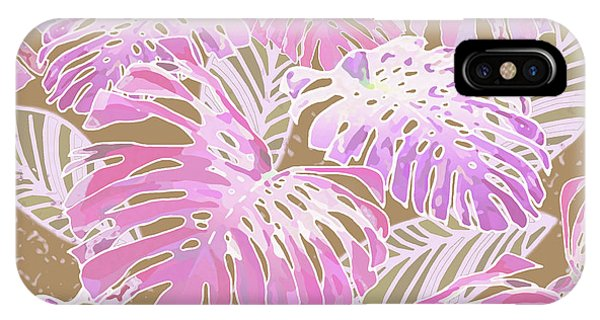 Monstera Jungle On Iced Coffee IPhone Case