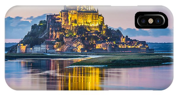 Mont Saint-michel In Twilight IPhone Case
