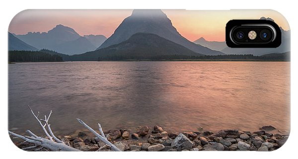 Montana Gold // Swiftcurrent Lake, Glacier National Park  IPhone Case