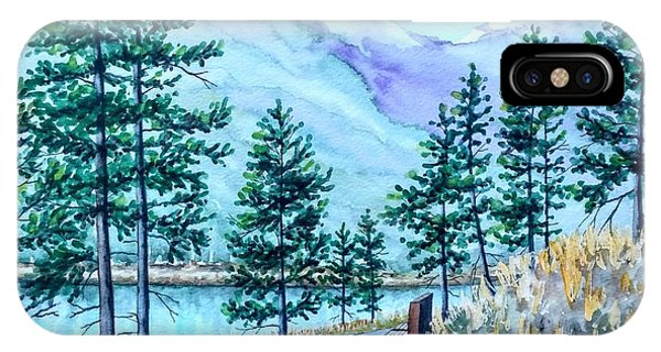 Montana Lake Como With Bench IPhone Case