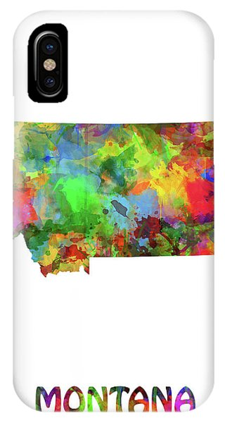 Montana State iPhone Case - Montana Map Watercolor by Bekim M
