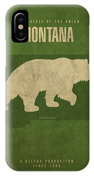 Montana State Facts Minimalist Movie Poster Art IPhone Case