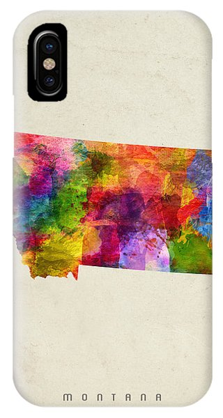 Montana State iPhone Case - Montana State Map 02 by Aged Pixel