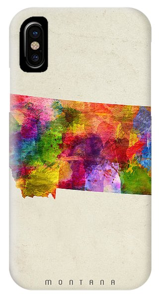 Montana State Map 02 IPhone Case