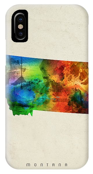 Montana State Map 03 IPhone Case