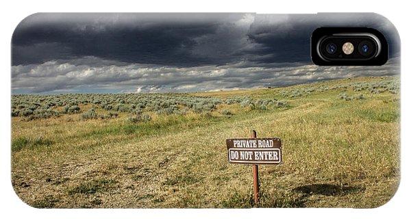 Montana Storm Phone Case by Sandy Adams