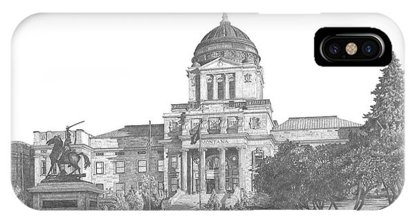 Capitol Building iPhone Case - Montana's Capitol by Andrew Aagard