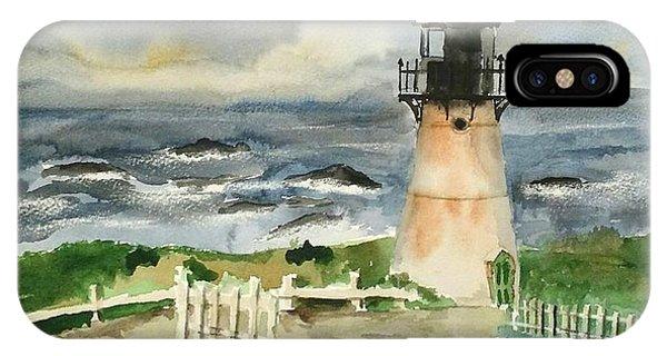 iPhone Case - Montara Lighthouse, Plein Air by Richard Zunkel