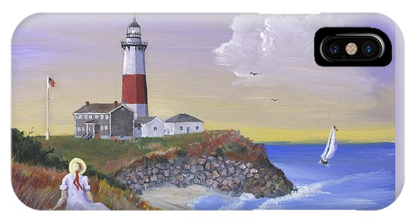 Lighthouse Wall Decor iPhone Case - Montauk Lighthouse by Jerry McElroy