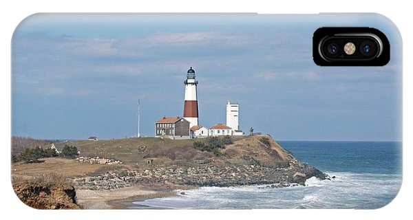 Montauk Lighthouse View From Camp Hero IPhone Case
