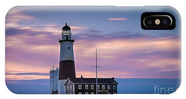 Montauk Lighthousepastel  Sunrise IPhone Case