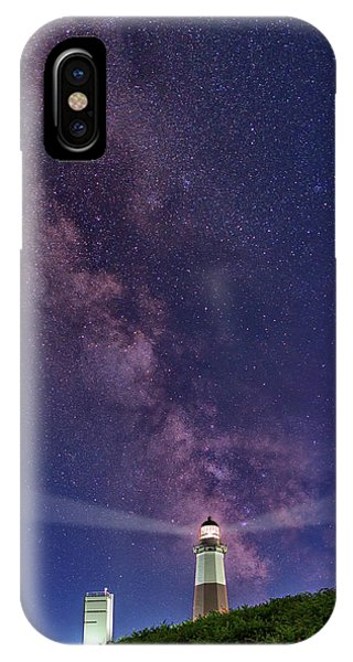 Navigation iPhone Case - Montauk Point And The Milky Way by Rick Berk