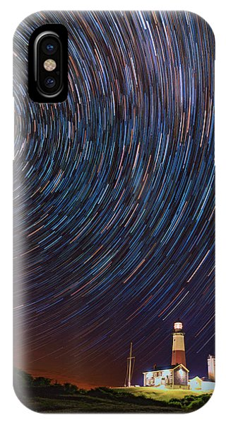 Navigation iPhone Case - Montauk Star Trails by Rick Berk
