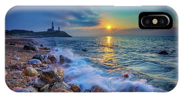 Navigation iPhone Case - Montauk Sunrise by Rick Berk